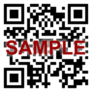 Sample QR code to access third party product quality data